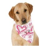 Valentine's Day Dog Bandana Scarf w/ Couple's Names