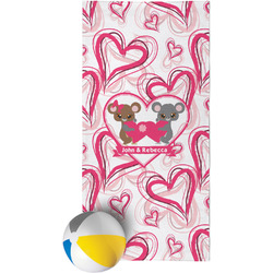 Valentine's Day Beach Towel (Personalized)