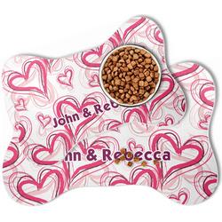 Valentine's Day Bone Shaped Dog Food Mat (Personalized)