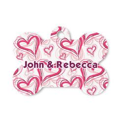 Valentine's Day Bone Shaped Dog Tag (Personalized)