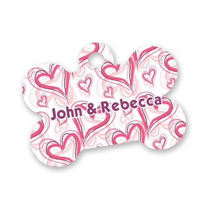 Valentine's Day Bone Shaped Dog ID Tag (Personalized)