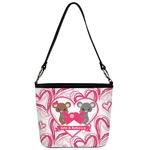Valentine's Day Bucket Bag w/ Genuine Leather Trim (Personalized)