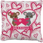 Valentine's Day Faux-Linen Throw Pillow (Personalized)