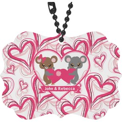 Valentine's Day Rear View Mirror Charm (Personalized)