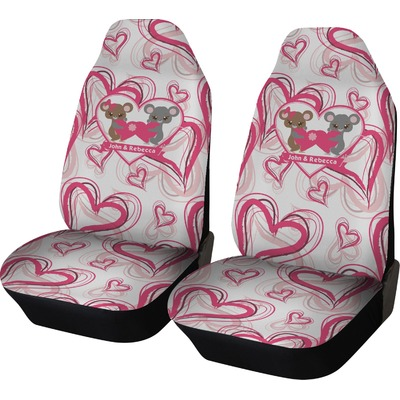 Valentine's Day Car Seat Covers (Set of Two) (Personalized)