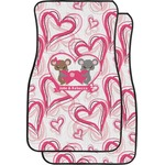 Valentine's Day Car Floor Mats (Front Seat) (Personalized)
