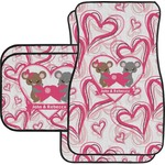 Valentine's Day Car Floor Mats Set - 2 Front & 2 Back (Personalized)