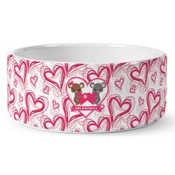 Valentine's Day Ceramic Pet Bowl (Personalized)