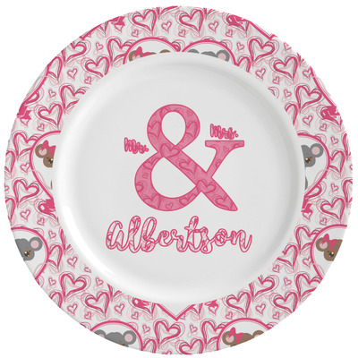 Valentine's Day Ceramic Dinner Plates (Set of 4) (Personalized)