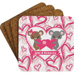 Valentine's Day Coaster Set w/ Stand (Personalized)