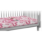 Valentine's Day Crib Fitted Sheet (Personalized)