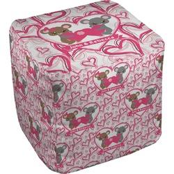 Valentine's Day Cube Pouf Ottoman (Personalized)