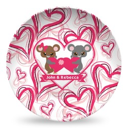 Valentine's Day Microwave Safe Plastic Plate - Composite Polymer (Personalized)
