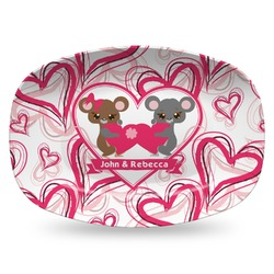 Valentine's Day Plastic Platter - Microwave & Oven Safe Composite Polymer (Personalized)