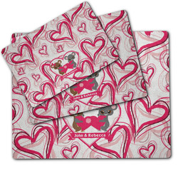 Valentine's Day Dog Food Mat w/ Couple's Names
