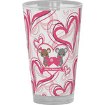 Valentine's Day Drinking / Pint Glass (Personalized)