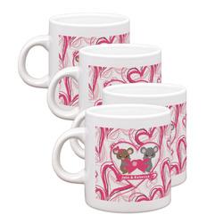 Valentine's Day Espresso Mugs - Set of 4 (Personalized)