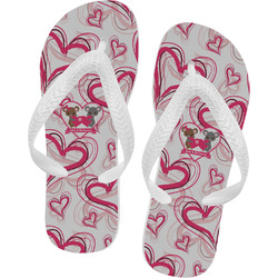 Valentine's Day Flip Flops (Personalized)