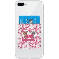 Valentine's Day Genuine Leather Adhesive Phone Wallet (Personalized)