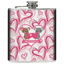 Valentine's Day Genuine Leather Flask (Personalized)