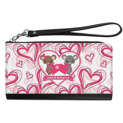 Valentine's Day Genuine Leather Smartphone Wrist Wallet (Personalized)