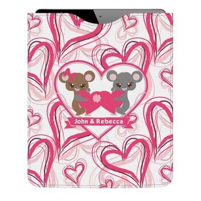 Valentine's Day Genuine Leather iPad Sleeve (Personalized)