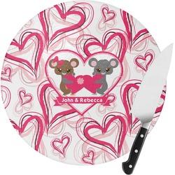 Valentine's Day Round Glass Cutting Board (Personalized)