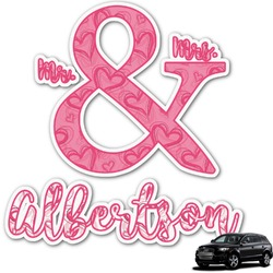 Valentine's Day Graphic Car Decal (Personalized)