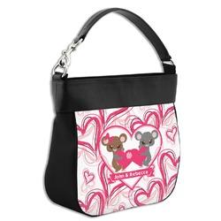 Valentine's Day Hobo Purse w/ Genuine Leather Trim (Personalized)