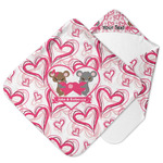 Valentine's Day Hooded Baby Towel (Personalized)