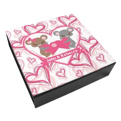 Valentine's Day Leatherette Keepsake Box - 8x8 (Personalized)