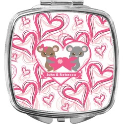 Valentine's Day Compact Makeup Mirror (Personalized)