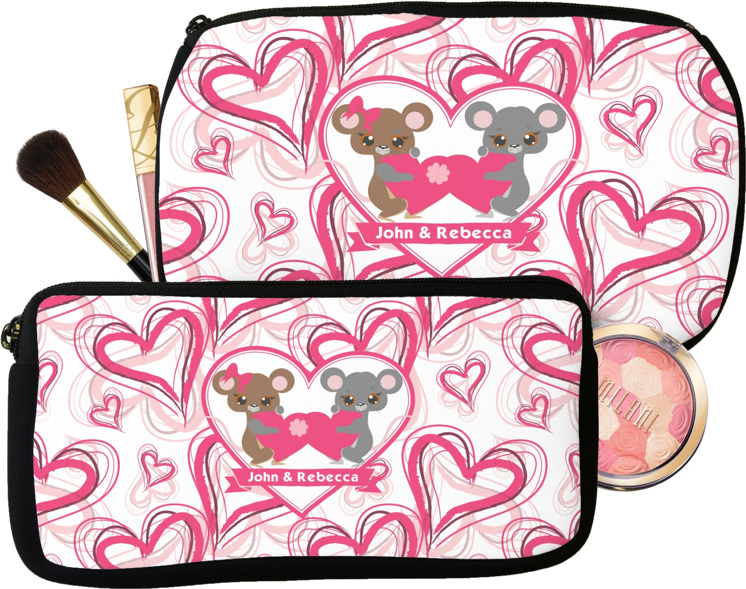 YouCustomizeIt Mouse Love Duffel Bag Personalized