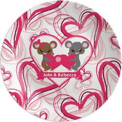 "Valentine's Day 8"" Melamine Appetizer / Dessert Plate (Personalized)"