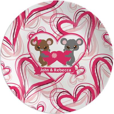 "Valentine's Day Melamine Plate - 8"" (Personalized)"