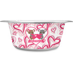 Valentine's Day Stainless Steel Dog Bowl (Personalized)