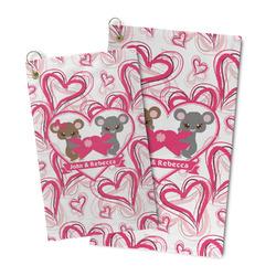 Valentine's Day Microfiber Golf Towel (Personalized)
