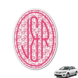 Valentine's Day Monogram Car Decal (Personalized)