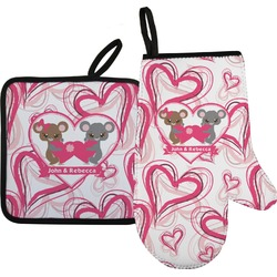 Valentine's Day Oven Mitt & Pot Holder (Personalized)