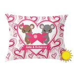 Valentine's Day Outdoor Throw Pillow (Rectangular) (Personalized)