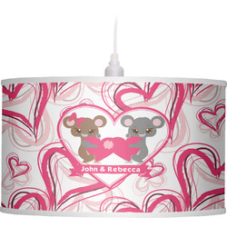 Valentine's Day Drum Pendant Lamp Linen (Personalized)