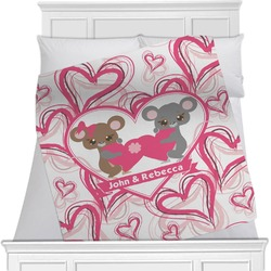 """Valentine's Day Fleece Blanket - Queen / King - 90""""x90"""" - Double Sided (Personalized)"""