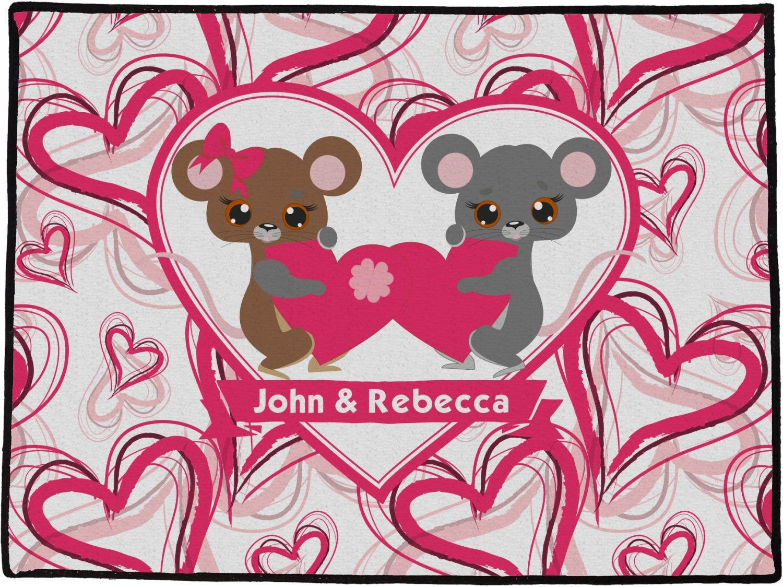 Valentine S Day Door Mat Personalized Youcustomizeit