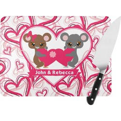 Valentine's Day Rectangular Glass Cutting Board (Personalized)