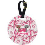 Valentine's Day Round Luggage Tag (Personalized)