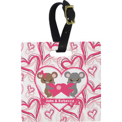 Valentine's Day Square Luggage Tag (Personalized)