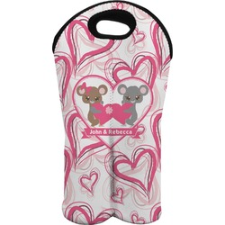 Valentine's Day Wine Tote Bag (2 Bottles) (Personalized)