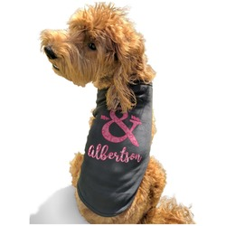 Valentine's Day Black Pet Shirt - Multiple Sizes (Personalized)