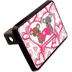 """Valentine's Day Rectangular Trailer Hitch Cover - 2"""" (Personalized)"""
