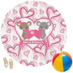Valentine's Day Round Beach Towel (Personalized)